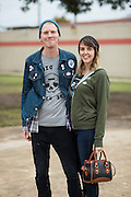 Nathan and Nicole Tindall pose for a portrait after voting in Dallas, Texas on November 8, 2016. Both Nathan and Nicole voted for Jill Stein even after friends told them that would be a wasted vote because they wanted to show their displeasure with the current two party system and both would have voted for Bernie Sanders if he had won the Democratic nomination. (Cooper Neill for The Texas Tribune)