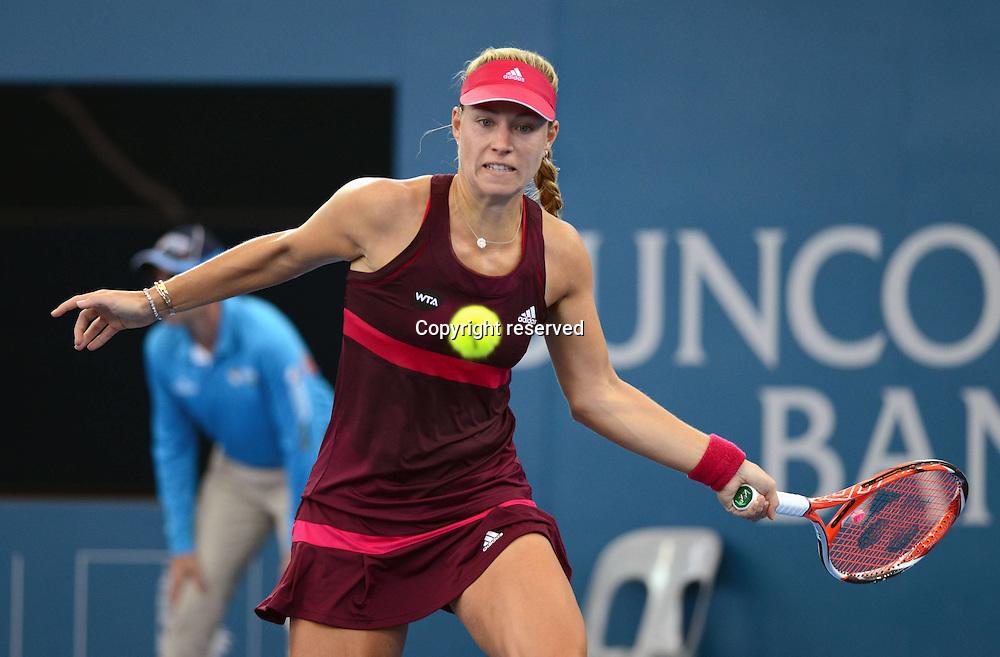 08.01.2014. Brisbane, Queensland, Australia.  Angelique Kerber (GER) in Action. Brisbane International 2015,