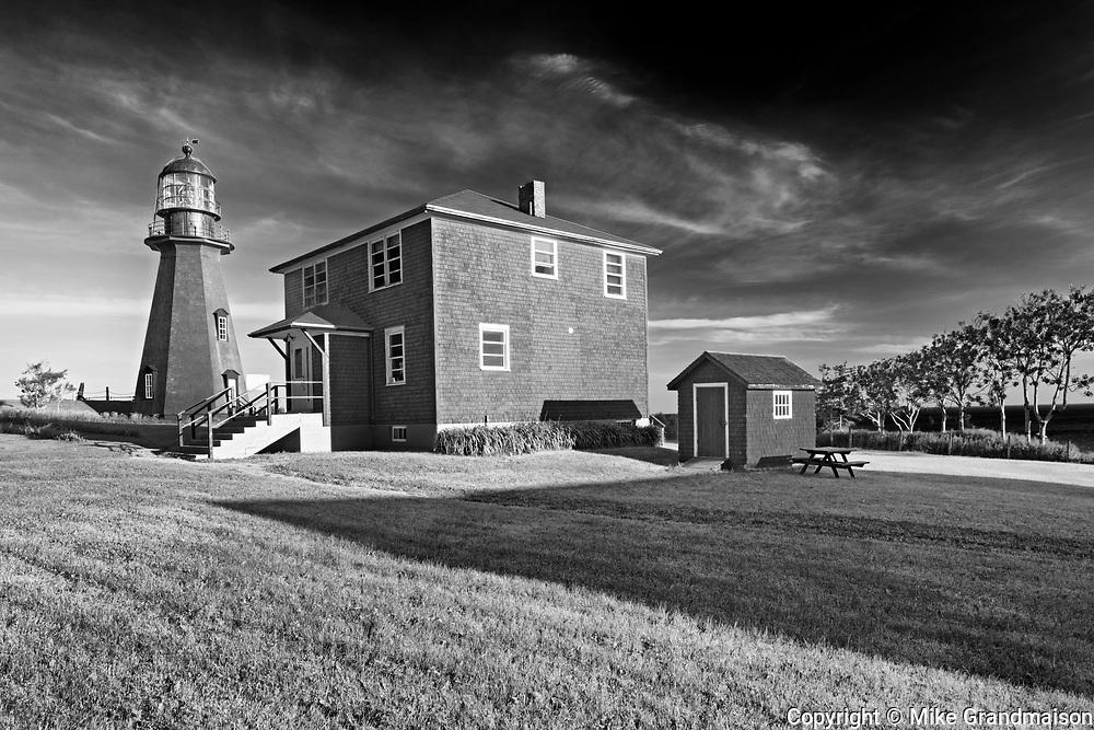 Lighthouse and lightkepper's house. Gaspé Peninsula. , La Martre, Quebec, Canada