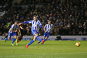 Brighton & Hove Albion centre forward Glenn Murray (17) scores a goal from the penalty spot 1-0 during the EFL Sky Bet Championship match between Brighton and Hove Albion and Newcastle United at the American Express Community Stadium, Brighton and Hove, England on 28 February 2017. Photo by Phil Duncan.