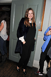 VALENTINE FILLOL-CORDIER at a carnival themed party hosted by Stacey Bendet for the Alice & Olivia fashion label at Paradise, Kensal Green, London on 9th November 2011