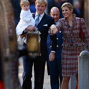 Doop Claus-Casimir Apeldoorn, Prins Willem Alexander, prinses Maxima en dochter Catherina Amalia