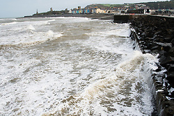 © Licensed to London News Pictures. 19/09/2018. Aberystwyth, UK. Stormy seas in Aberystwyth, as  Storm Ali, the first named storm of the UK winter season, gathers strength, promising very high winds and heavy rain for north western parts of the UK. Photo credit: Keith Morris/LNP