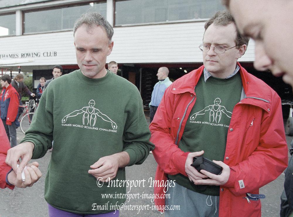 Putney. London. GREAT BRITAIN;  left. Frans GOEBEL and John TIERNEY.<br /> <br /> 1995 Thames World Sculling Championships, Putney to Mortlake. Championship Course, River Thames.<br /> <br /> [Mandatory Credit; &quot;Photo, Peter Spurrier/Intersport-images]