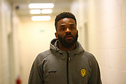 Burton Albion's Darren Bent arrives at the Pirelli Stadium during the EFL Sky Bet Championship match between Burton Albion and Brentford at the Pirelli Stadium, Burton upon Trent, England on 6 March 2018. Picture by John Potts.