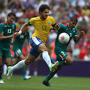 Alexandre Pato, Brazil, in action during the Brazil V Mexico Gold Medal Men's Football match at Wembley Stadium during the London 2012 Olympic games. London, UK. 11th August 2012. Photo Tim Clayton
