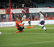 Dundee's Craig Wighton scores his side's equaliser - Dundee v Partick Thistle, SPFL Premiership at Dens Park<br /> <br />  - &copy; David Young - www.davidyoungphoto.co.uk - email: davidyoungphoto@gmail.com