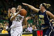 WACO, TX - DECEMBER 12:  Brooklyn Pope #32 of the Baylor University Bears drives the ball against the Oral Roberts University Golden Eagles on November 13, 2012 at the Ferrell Center in Waco, Texas.  (Photo by Cooper Neill/Getty Images) *** Local Caption *** Brooklyn Pope