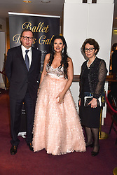 26 January 2020 - The Russian Ambassador to the UK Andrei Kelin and his wife Irina and Olga Balakleets at the Ballet Icons Gala at the London Coliseum, St.Martin's Lane, London.<br /> <br /> Photo by Dominic O'Neill/Desmond O'Neill Features Ltd.  +44(0)1306 731608  www.donfeatures.com