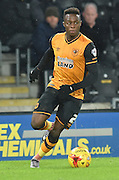 *Hull City midfielder Moses Odubajo (2)  during the Sky Bet Championship match between Hull City and Cardiff City at the KC Stadium, Kingston upon Hull, England on 13 January 2016. Photo by Ian Lyall.