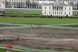 © Licensed to London News Pictures. 29/12/2012.An Olympic legacy of mud in Greenwich Park,London.(today 29.12.12).  As we go into 2013 Greenwich Park still has not been returned to its former glory more than 4 months on from the glory of the equestrian events in the park.today.Photo credit : Grant Falvey/LNP