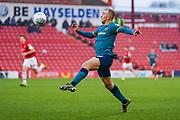 Hull City forward Jarrod Bowen (20) in action during the EFL Sky Bet Championship match between Barnsley and Hull City at Oakwell, Barnsley, England on 30 November 2019.