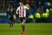 Brentford defender John Egan (14) scores a goal and celebrates to make the score 0-1 during the EFL Sky Bet Championship match between Sheffield Wednesday and Brentford at Hillsborough, Sheffield, England on 21 February 2017. Photo by Simon Davies.