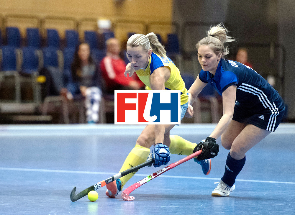 BERLIN - Indoor Hockey World Cup<br /> Kazakhstan - Russia<br /> foto: Vera Domashneva and Antonina Orlova <br /> WORLDSPORTPICS COPYRIGHT FRANK UIJLENBROEK