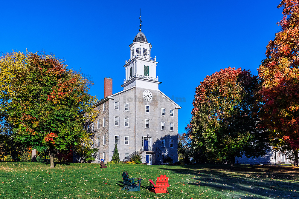 Old Chapel on the campus of Middlebury College, Vermont, USA.