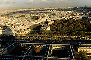 France. Paris. elevated view.les Invalides, view from the dome of the invalid church,
