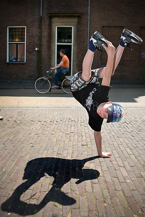 Groningen 14/5/2008. Breakdancer Tim Jansen doet mee aan holland's got talent. foto: Pepijn van den Broeke