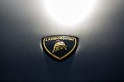 Lamborghini logo detail on GMG Racing #33.