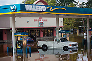 A flooded Valero gas station in Vidor, Texas, a small town near Beaumont, hit hard by Hurricane Harvey. The water continued to rise on  Sept. 1, after Harvey's rain stopped.