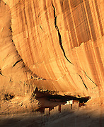 0100-1002C ~ Copyright: White House Ruin, Anasazi culture cliff dwelling. Occupied A.D. 1000's - 1200's. Canyon de Chelly National Monument, Arizona.