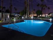 swimming pool at night Palm Springs USA