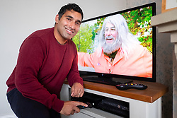 Baasit Siddiqui pictured at his home in Derby<br /> <br />  Copyright Paul David Drabble<br /> 08 October 2019<br />  www.pauldaviddrabble.co.uk