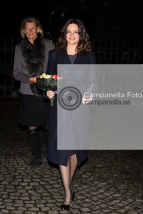 STOCKHOLM, SWEDEN - JANUARY 27:  Princess Sofia of Sweden attends a memorial ceremony in connection with the Holocaust Memorial Day at the Stockholm Synagogue on January 27, 2016 in Stockholm, Sweden. (Photo by Michael Campanella/Getty Images)