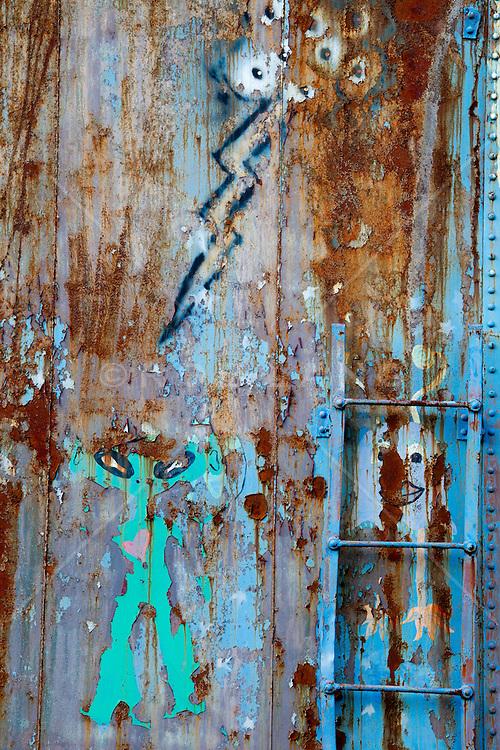 graffiti on an abandoned train