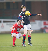 Dundee's Craig Wighton and St Mirren's Stevie Mallan - Dundee v St Mirren in the William Hill Scottish Cup at Dens Park, Dundee. Photo: David Young<br /> <br />  - © David Young - www.davidyoungphoto.co.uk - email: davidyoungphoto@gmail.com
