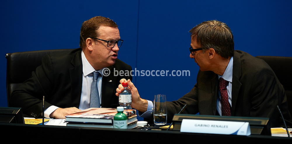 ZURICH, SWISS - JANUARY 9:  FIFA Beach Soccer Work Shop 2013 at FIFA on January 9, 2013 in Zurich, Swiss. (Photo by Manuel Queimadelos)