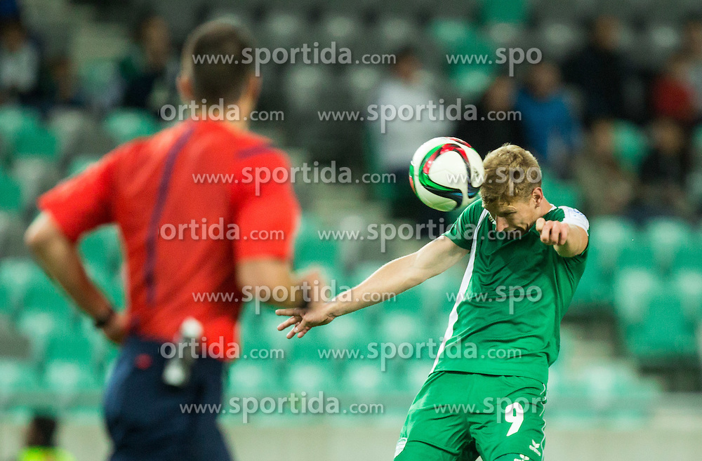 David Poljanec #9 of Krsko during football match between NK Olimpija Ljubljana and NK Krsko in 13th Round of Prva liga Telekom Slovenije 2015/16, on October 4, 2015 in SRC Stozice, Ljubljana, Slovenia. Photo by Vid Ponikvar / Sportida