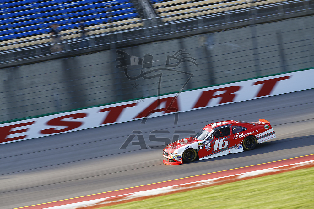 September 23, 2017 - Sparta, Kentucky, USA: Ryan Reed (16) brings his car down the back stretch during practice for the VisitMyrtleBeach.com 300 at Kentucky Speedway in Sparta, Kentucky.