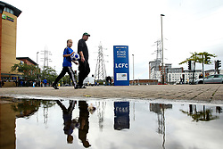 Leicester City fans arrive at the King Power Stadium, ahead of their side's fixture against Newcastle United - Mandatory by-line: Robbie Stephenson/JMP - 29/09/2019 - FOOTBALL - King Power Stadium - Leicester, England - Leicester City v Newcastle United - Premier League