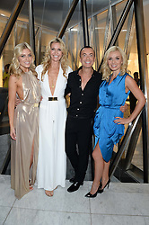 Left to right, MOLLIE KING, MELISSA ODABASH, JULIEN MACDONALD and KATHERINE JENKINS at the launch of the Odabash Macdonald Resort 2014 swimwear collection at ME Hotel, London on 25th June 2013.
