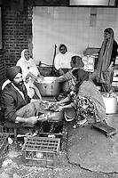 Evening meal at the Sikh Temple in Southall, People's  March for Jobs, Yorkshire and Liverpool to London. 29/05/1981.