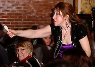 "Jene Rebbin Shaw during Mayhem & Mystery's production of ""Tragedy in the Theater"" at the Spaghetti Warehouse in downtown Dayton, Monday, February 28, 2011."