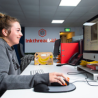 An image of staff at work at Inkthreadable, Blackburn, Lancashire on 7th August 2019