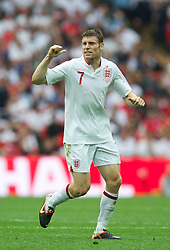 LONDON, ENGLAND - Saturday, June 2, 2012: England's James Milner in action against Belgium during the International Friendly match at Wembley. (Pic by David Rawcliffe/Propaganda)