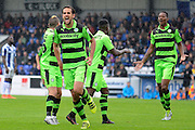 Forest Green Rovers midfielder Darren Carter (12) scores a goal 0-2 during the Vanarama National League match between Chester and Forest Green Rovers at the Deva Stadium, Chester, United Kingdom on 3 September 2016. Photo by Alan Franklin.