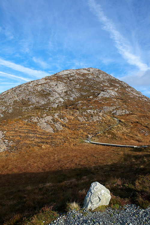 Diamond Hill, a mountain in the Twelve Bens (or Pins) range, part of Connemara National Park, Galway, Ireland
