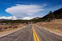 Two-Lane Road, Rocky Mountains National Park, Colorado