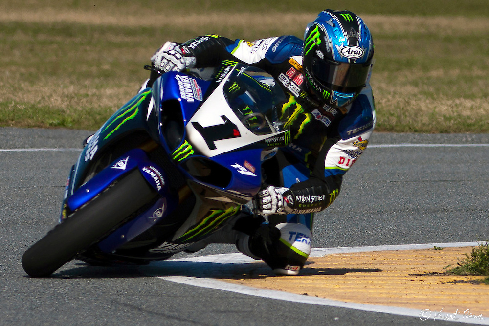Monster Energy/Graves/Yamaha rider Josh Hayes during the Daytona 200 at Daytona International Speedway on March 16, 2012