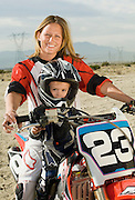 Mother and Son Motocross Racers