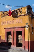 A traditional Mexican cantina or bar in San Miguel de Allende, Guanajuato, Mexico.