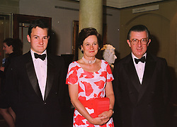 Left to right, MR EDWARD MAGAN and his parents MR & MRS GEORGE MAGAN, he is the leading City figure, at a dinner in London on 19th May 1998.MHS 10