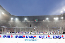 03.01.2015, Klagenfurter Wörthersee Stadion, Klagenfurt, AUT, EBEL, EC KAC vs EC VSV, 35. Runde, in picture Players during national anthem before the Erste Bank Icehockey League 35. Round between EC KAC and EC VSV at the Klagenfurter Wörthersee Stadion, Klagenfurt, Austria on 2015/01/03. Photo by Matic Klansek Velej / Sportida