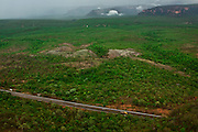 Chapada dos Guimaraes_MT, Brasil...Imagens do Parque Nacional da Chapada dos Guimaraes no Estado do Mato Grosso. Na foto estrada do Parque...The Chapada dos Guimaraes National Park  is a national park in the Brazilian state of Mato Grosso. In this photo the road in the Park...Foto: JOAO MARCOS ROSA  / NITRO...