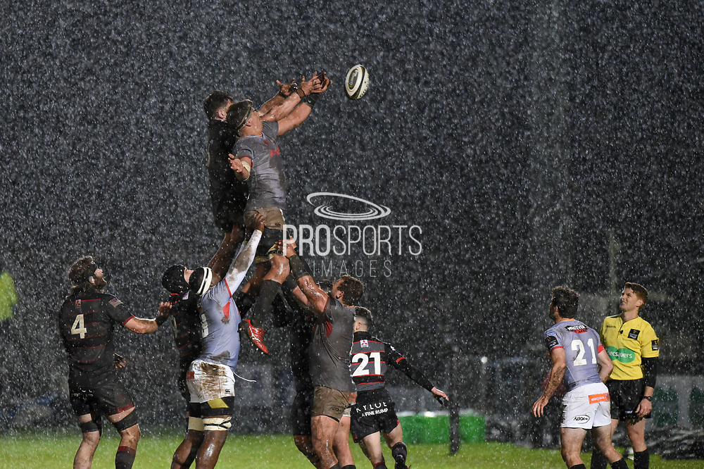 Weather turned bad during the Guinness Pro 14 2017_18 match between Edinburgh Rugby and Southern Kings at Myreside Stadium, Edinburgh, Scotland on 5 January 2018. Photo by Kevin Murray.