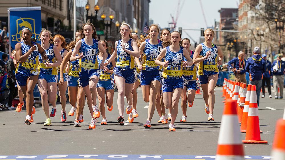 BAA Invitational Road Mile, Scholastic Girls Mile, start