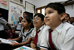 BANGLADESH CHITTAGONG 9MAR05 - Grade 1 English class at Bay View private School in Chittagong. The school, directed by Mrs Mendes, is one of the best providing high quality secondary education in Bangladesh..jre/Photo by Jiri Rezac..© Jiri Rezac 2005..Contact: +44 (0) 7050 110 417.Mobile:  +44 (0) 7801 337 683.Office:  +44 (0) 20 8968 9635..Email:   jiri@jirirezac.com.Web:    www.jirirezac.com..© All images Jiri Rezac 2005 - All rights reserved.